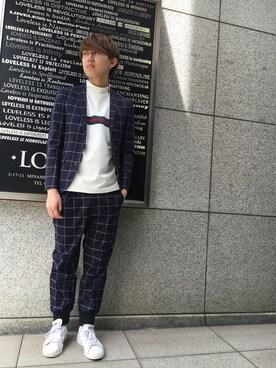 「【GUILD PRIME】MENS ウィンドウペーンチェックJK(GUILD PRIME)」 using this LOVELESS青山|hiromu looks