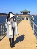 Yuhoさんの「ビッグカラーPコート(LE CIEL BLEU|ルシェルブルー)」を使ったコーディネート