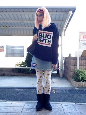 「SMILY プールバッグ(Aymmy in the batty girls)」 using this いく☆ looks