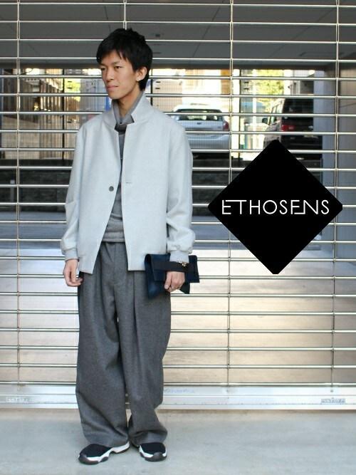 ANCHORさんの「ETHOSENS [エトセンス] Stand collar blouson(ETHOSENS)」を使ったコーディネート