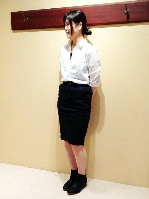 ikka STORE Women's STAFFさんの「ベルト付きタイトスカート(ikka)」を使ったコーディネート