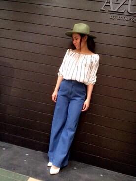 AZULbymoussyイオンモール札幌発寒店|yukika ooyamaさんのコーディネート