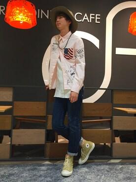 AVIREX 岡山|joujiさんの「avirex/ アヴィレックス/  L/S REMAKE SHIRT/ 長袖 リメイクシャツ(AVIREX)」を使ったコーディネート