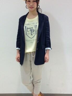 haruna│Rouge vifのテーラードジャケットコーディネート