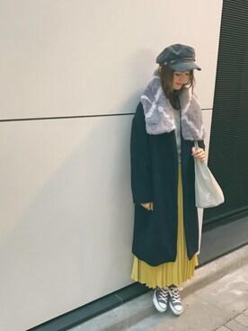 mysticルミネ横浜店|anna  aoyamaさんの「【Omekashi】ガウンコート(Omekashi)」を使ったコーディネート
