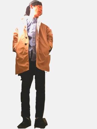 わたるさんの「MEN ストレッチスキニーフィットテーパードカラージーンズ(ユニクロ|ユニクロ)」を使ったコーディネート