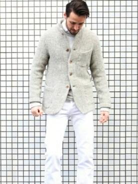 Badou-R本店|ロマンさんの「シェットランドヘリンボンジャケット(45R)」を使ったコーディネート
