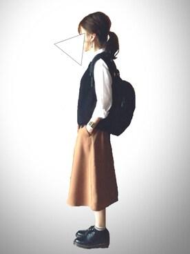 レキミさんの「畔キョウネンベスト【niko and...】(niko and...)」を使ったコーディネート