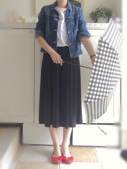 miiimさんのTシャツ/カットソー「S137 TS(agnes b. アニエスベー)」を使ったコーディネート