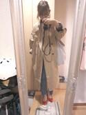Saya Ishimuraさんの「ベルトSETビッグシルエットトレンチコート(DHOLIC ディーホリック)」を使ったコーディネート