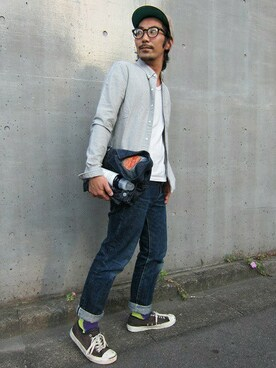 Denime ZOZOSTORE|中井 皓次さんの(Denime|ドゥニーム)を使ったコーディネート