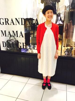 SIXTY ONE ARROW ミント神戸店|かほ いわたさんの(GRANDMA MAMA DAUGHTER|グランマ・ママ・ドーター)を使ったコーディネート