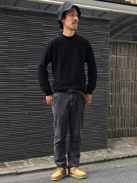 ビューティ&ユース ユナイテッドアローズ 京都店|Keisuke Oosukaさんのブーツ「【別注】 <CLARKS(クラークス)> ∴ WALLABEE/シューズ(Clarks|クラークス)」を使ったコーディネート