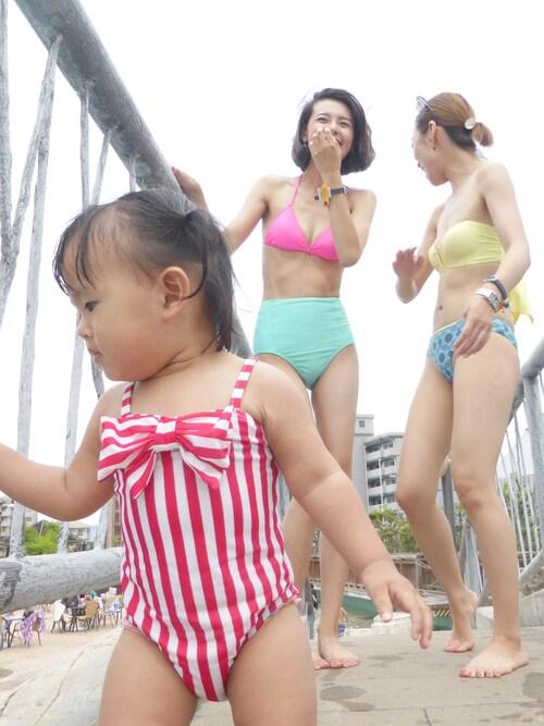 ママ友 市民プール 付き添い 格好 水着