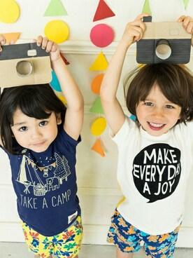 F.O.Online Store|F.O.OnlineStoreさんの「ネット限定2柄フロッキーTシャツ(JUNK STORE)」を使ったコーディネート