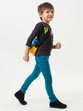 F.O.Online Store|F.O.OnlineStoreさんのTシャツ/カットソー「ロゴアップリケ7分袖Tシャツ(BREEZE|ブリーズ)」を使ったコーディネート