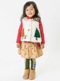 F.O.OnlineStoreさんの「お山柄と無地のペチパン付きスカート(Petit jam|プチジャム)」を使ったコーディネート