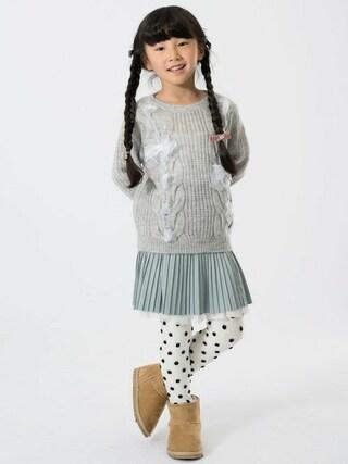F.O.Online Store|F.O.OnlineStoreさんの「リボン編み込みセーター(apres les cours|アプレレクール)」を使ったコーディネート