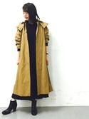 FUJIMOTOさんの「サイドスリット総針ドレス(ADAM ET ROPE' アダム エ ロペ)」を使ったコーディネート