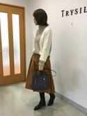 nobuさんの「1枚合皮2wayミニトートバッグ(T・S・L|ティーエスエル)」を使ったコーディネート