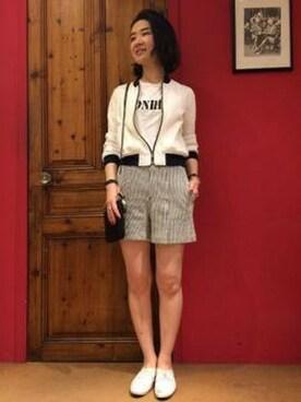 スーシー│Rouge vifのTシャツ・カットソーコーディネート