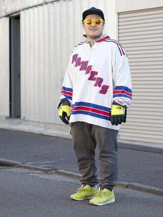 "Shibuya""T""|Tadahiro  Itoさんの「NHL ""New York Rangers"" Hockey Shirt ¥8,800+tax(VINTAGE|ヴィンテージ)」を使ったコーディネート"