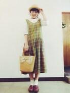きょうもおつかれさまでした〜!!!ちゃらーん!vintageのかごばっくかわいいんです 新宿はひとがおおい!