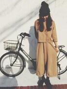 ねくら風   わたしの自転車カーキー色なんだよ〜!とりこのくつしんいり