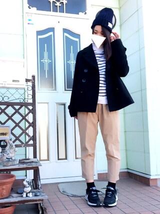 すぅさんの「Pジャケット☆(one after another NICE CLAUP|ワンアフター アナザー ナイスクラップ)」を使ったコーディネート