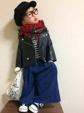 kanonさんの(韓国子供服)を使ったコーディネート
