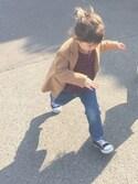 aya__r_さんの「CONVERSE / CHILD ALL STAR N Z OX(CONVERSE|コンバース)」を使ったコーディネート