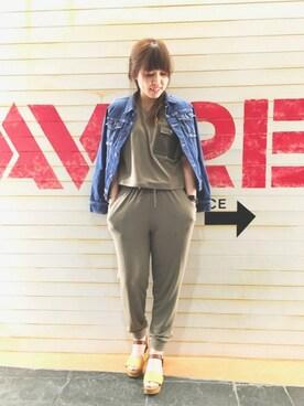 AVIREX  福岡|akaneさんの「avirex/ アヴィレックス/ TYPE BLUE DENIM JACKET/ タイプブルー デニムジャケット(AVIREX)」を使ったコーディネート
