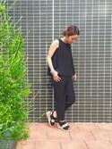 kosuji0619さんの「DOORS ノースリーブオールインワン(URBAN RESEARCH DOORS WOMENS|アーバンリサーチ ドアーズ ウィメンズ)」を使ったコーディネート