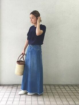 URBAN RESEARCH DOORS|kosuji0619さんの「DOORS フレンチスリーブフリンジニット(URBAN RESEARCH DOORS WOMENS)」を使ったコーディネート