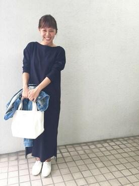 URBAN RESEARCH DOORS|kosuji0619さんの「DOORS ボートネックカットソーワンピース(URBAN RESEARCH DOORS WOMENS)」を使ったコーディネート