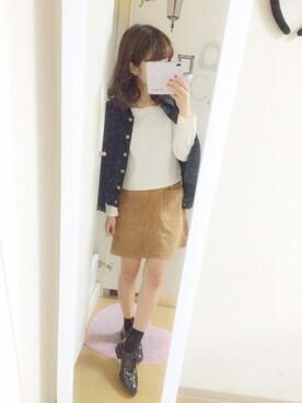 nana♡さんの「バックリボンドルマン長袖 567597(Heather)」を使ったコーディネート