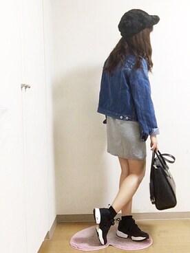 nana♡さんの「ファーキャップ(E hyphen world gallery|イーハイフンワールドギャラリー)」を使ったコーディネート