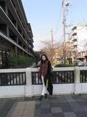 ayako  Oさんの「Frost Green Kanken Classic Backpack(Fjallraven Kanken フェールラーベンカンケン)」を使ったコーディネート