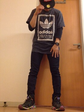 (adidas) using this びーびー☑︎ looks