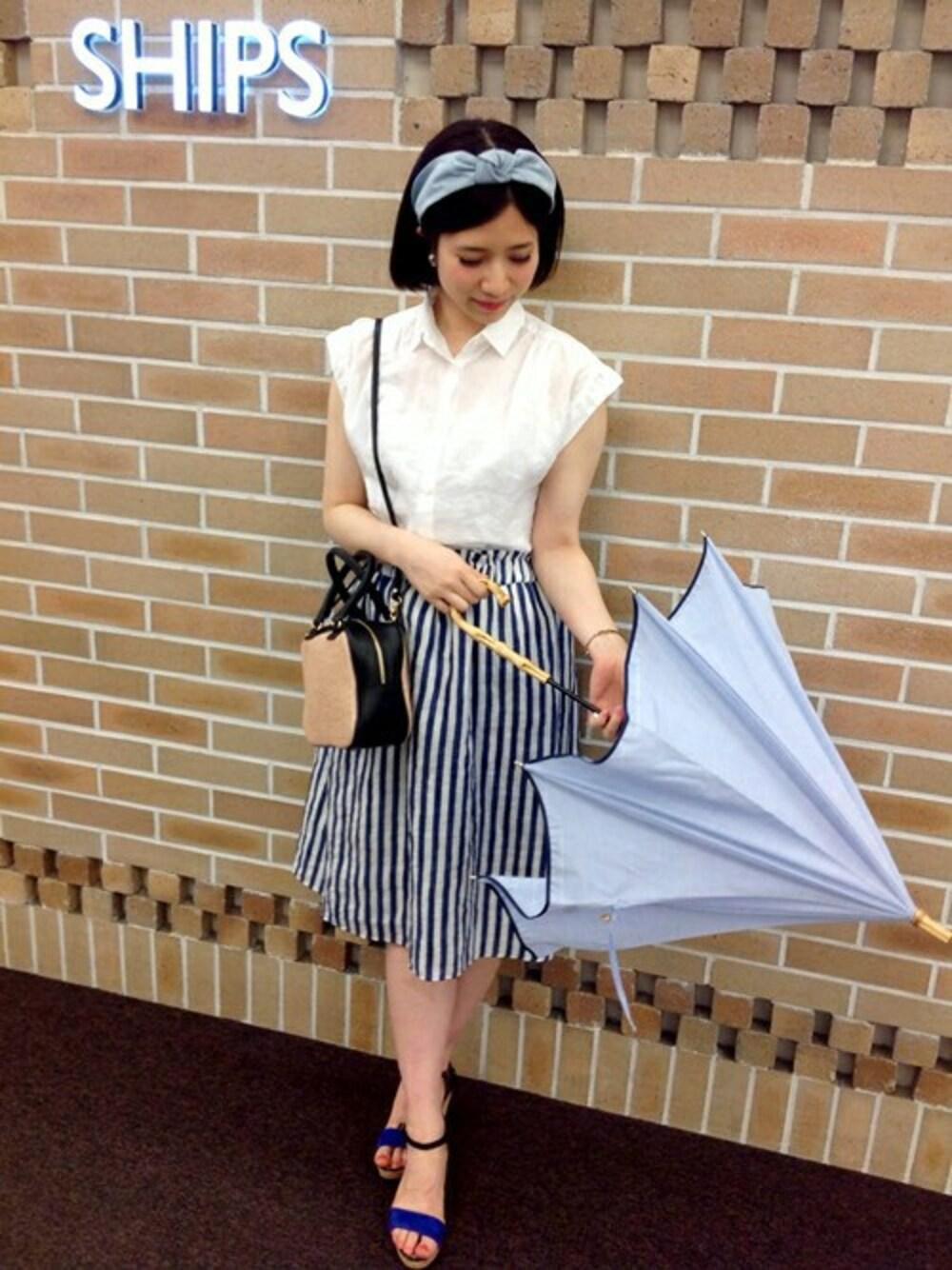 雨用サンダル スカート 服選び