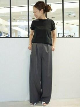 MUSE de Deuxieme Classe|MIYOさんの「《予約》 追加 CAP SLEEVE Tシャツ(Deuxieme Classe)」を使ったコーディネート
