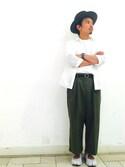 shota kimuraさんの「コットンポリエステルウェザーガウチョ(ADAM ET ROPE'|アダム エ ロペ)」を使ったコーディネート