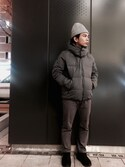 shota kimuraさんの「360°ストレッチデニムスリムストレート(ADAM ET ROPE'|アダム エ ロペ)」を使ったコーディネート