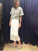 kawanishiさんの「レーススカート(GRACE CONTINENTAL|グレースコンチネンタル)」を使ったコーディネート