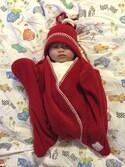 MY&UCさんの「星型アフガン スターラップ 0-4M(新生児~生後4ヶ月頃) Tuppence&Crumble (タッペンス&クランブル)(babybaby select|ベイビーベイビーセレクト)」を使ったコーディネート