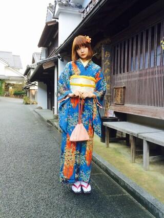 村田倫子さんの(着物)を使ったコーディネート