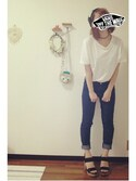 「FOREVER 21 Cotton T-Shirt Dress(Forever 21)」 using this saka looks