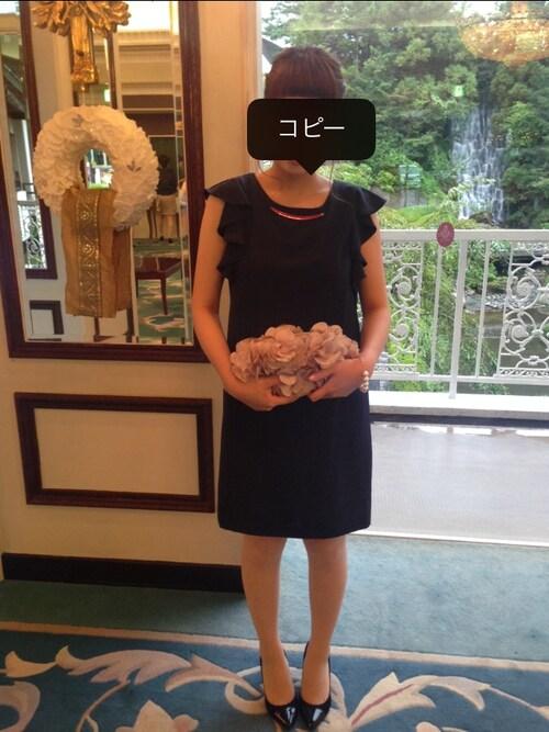 ZARAのワンピースを使った結婚式 参考コーデ画像