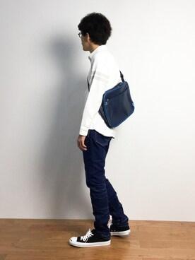ZOZOTOWN|ナカニシアキラさんの「KURO / クロ 417別注 EN.TOE BLUE DENIM(KURO|クロ)」を使ったコーディネート