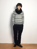 ナカニシアキラさんの「ケーブル編みスヌードCA-06(Capelli|カペリ)」を使ったコーディネート
